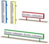 Kundenleitsystem in farbiger Darstellung